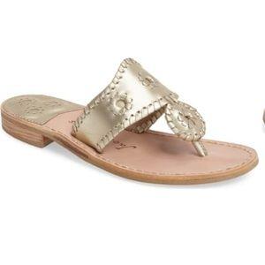 NWOB Jack Rogers metallic flip flop sandal